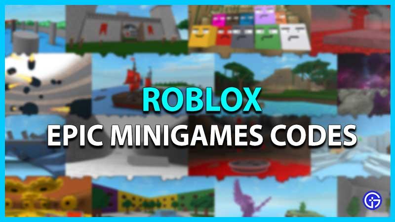 Códigos de minijuegos épicos de Roblox