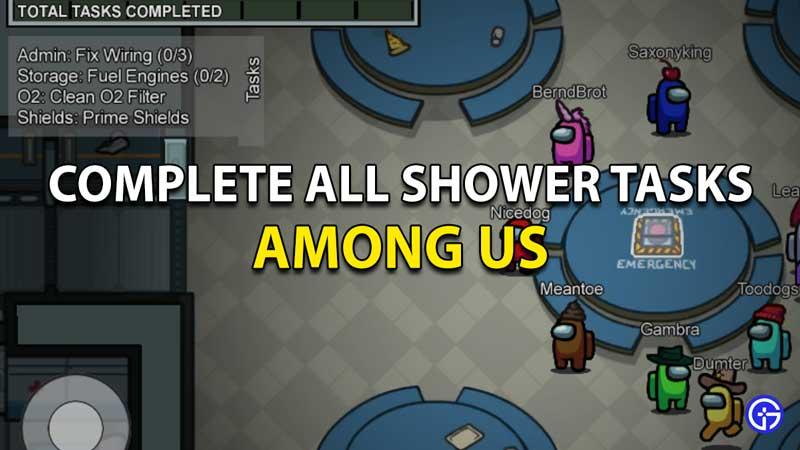 Entre nosotros todas las tareas de ducha