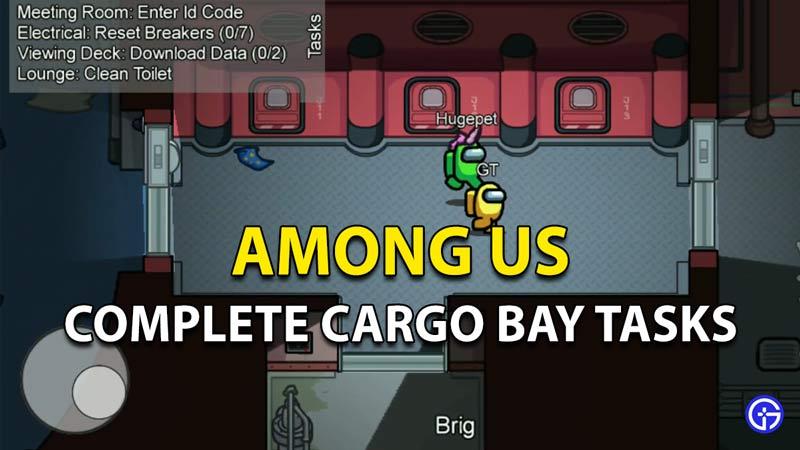 Tareas completas de Cargo Bay entre nosotros