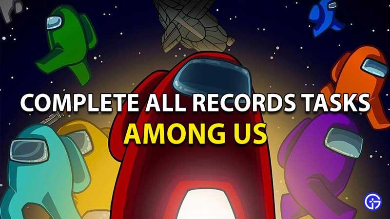 Entre nosotros, todas las tareas de registros