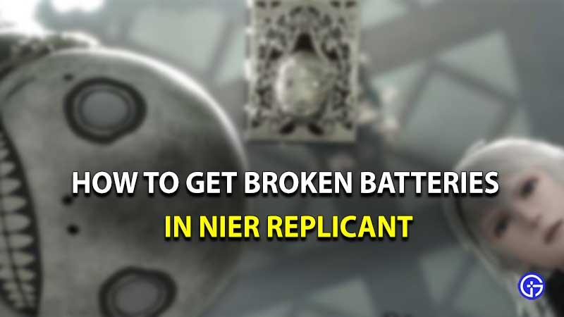 cómo conseguir baterías rotas en nier replicant