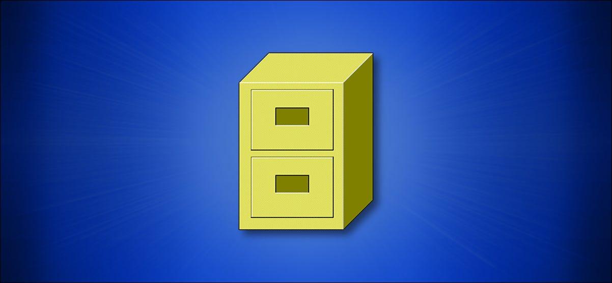 El icono del Administrador de archivos de Windows 3.x sobre un fondo azul