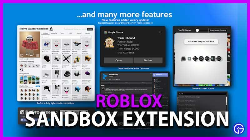 Extensión Roblox Sandbox Roblox
