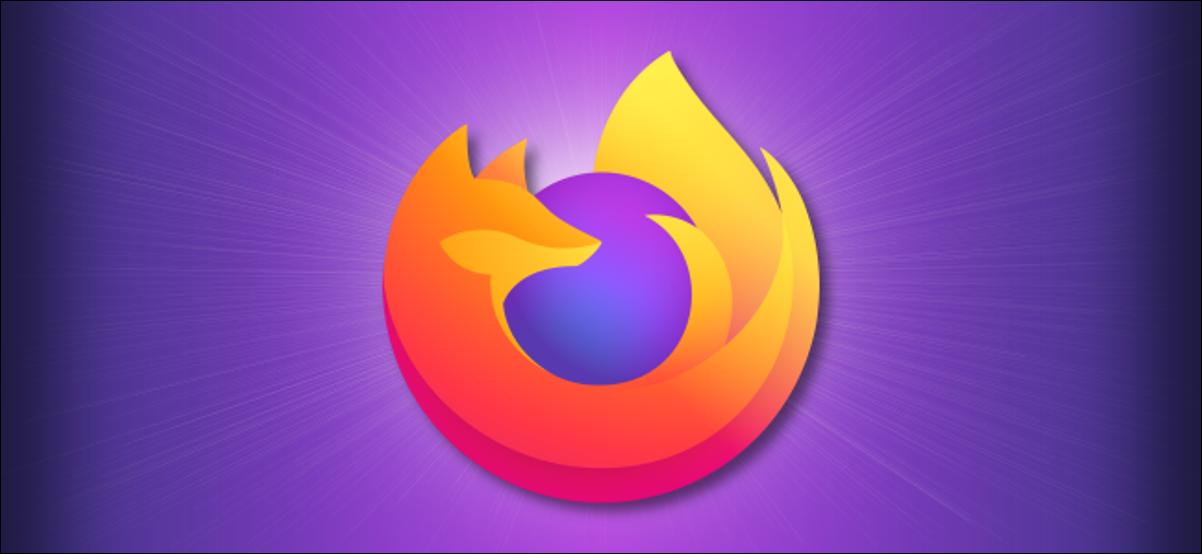 Logotipo de Firefox sobre un fondo morado