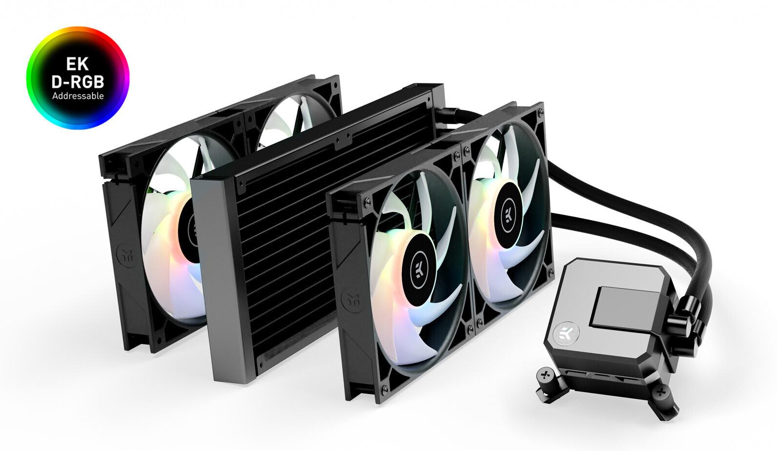 EK Water Blocks presenta el enfriador de CPU EK-AIO Elite 280 D-RGB