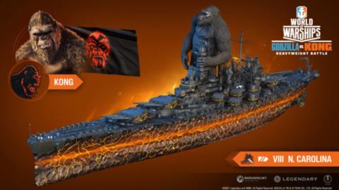 Godzilla vs.  Kong llega a World of Warships en mayo, ambos son comandantes jugables