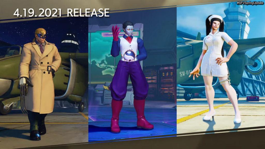 Trajes de actualización de primavera de Street Fighter V