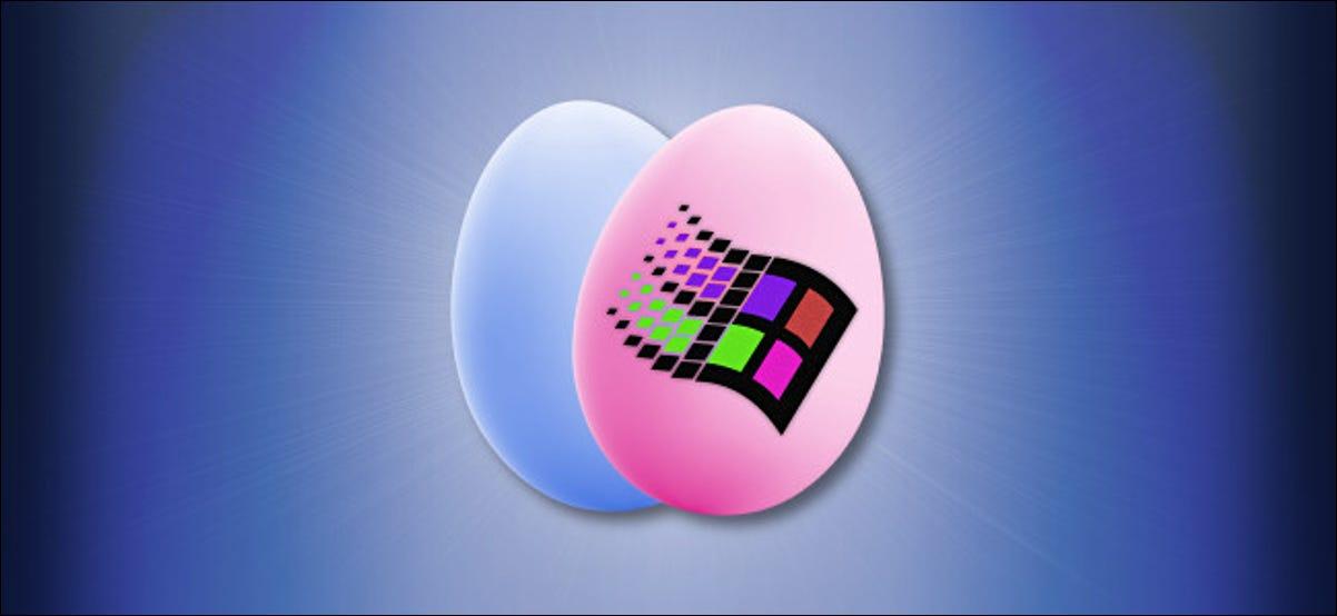 El logo de Windows en un huevo de Pascua.