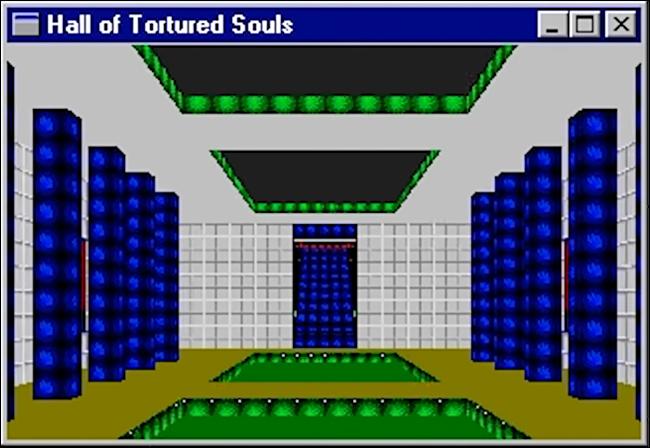 """El """"Salón de las almas torturadas"""" Huevo de Pascua en Microsoft Excel '95."""