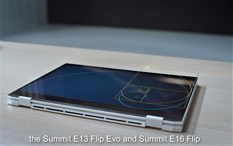 MSI presenta las nuevas ordenadores portátiles 2 en 1 de la serie Summit diseñadas por Golden Ratio