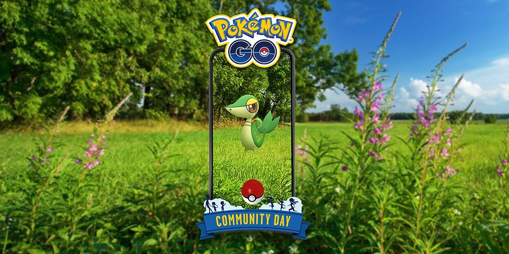 Pokémon GO revela el día de la comunidad de Snivy para abril
