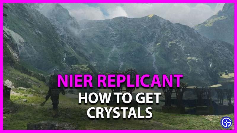 cómo obtener cristales en el replicante nier
