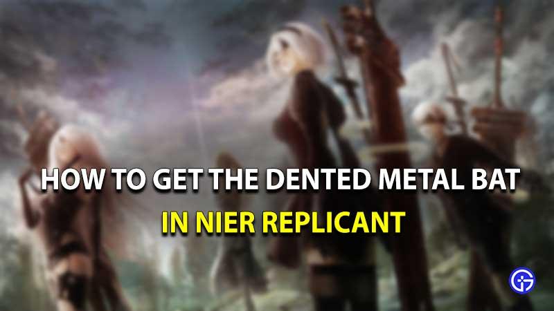 Murciélago de metal abollado replicante de Nier