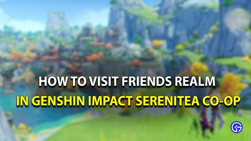 Genshin Impact serenitea visita amigos