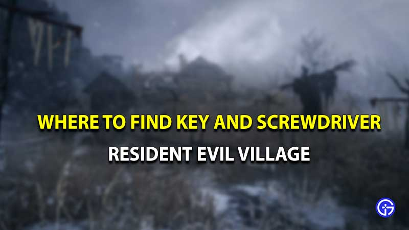 Destornillador de llave de Resident Evil Village