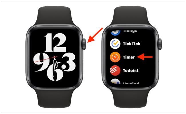 Abrir la aplicación Timer en Apple Watch