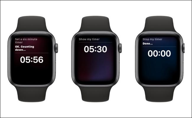 Uso de Siri para configurar un temporizador en Apple Watch