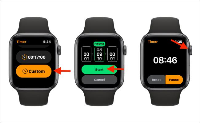 Configurar un temporizador personalizado en el Apple Watch