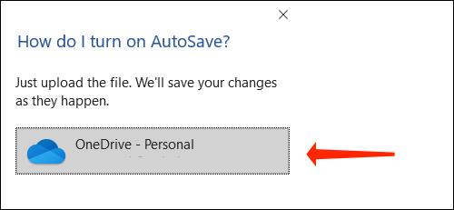 Haga clic en OneDrive