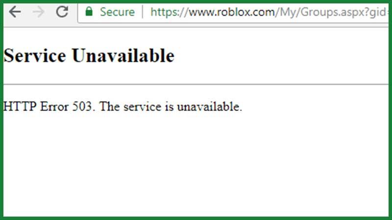 Cómo reparar el error de servicio no disponible de Roblox 503