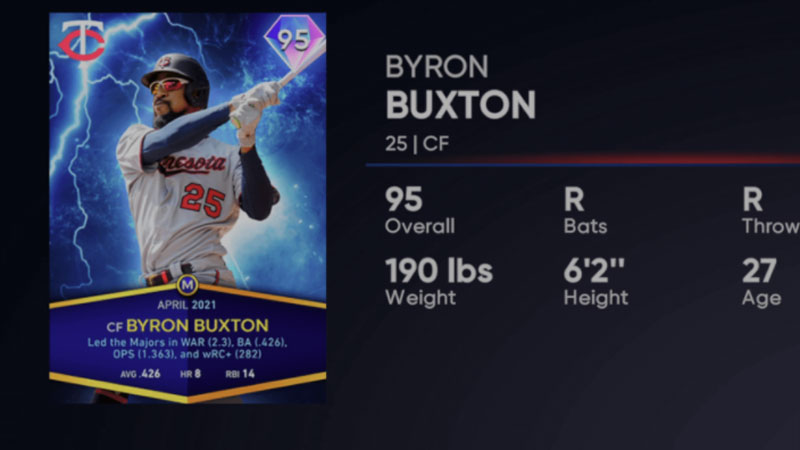 Programa mensual de premios MLB The Show del 21 de abril