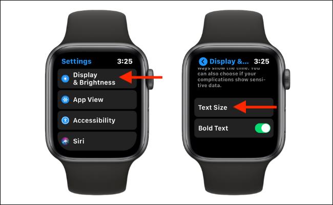 Seleccione el tamaño del texto en la configuración