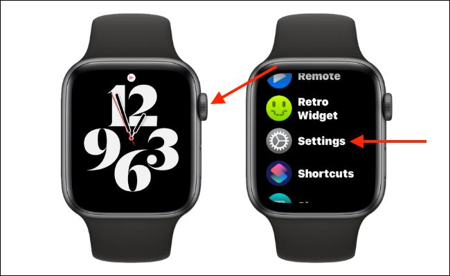 Abrir configuración en Apple Watch