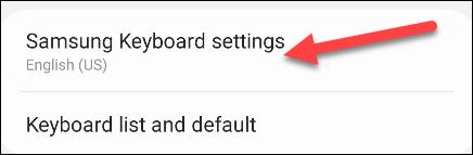 configuración del teclado Samsung