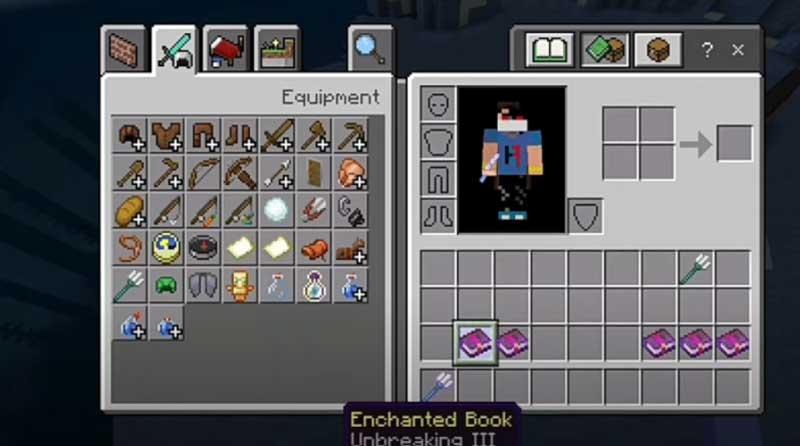Encantamientos de tridente de Minecraft