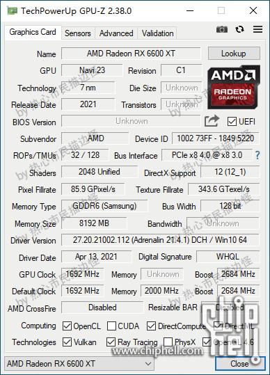 Las especificaciones de AMD Radeon RX 6600 XT y RX 6600 aparecen en capturas de pantalla de GPU-Z