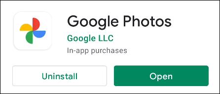 aplicación de fotos de google