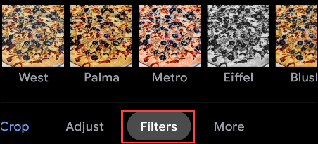 filtros de fotos