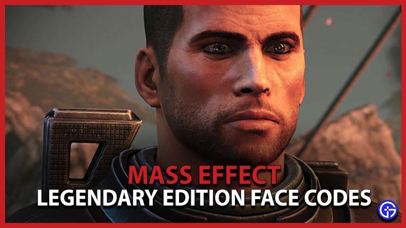 Códigos faciales de Mass Effect Legendary Edition