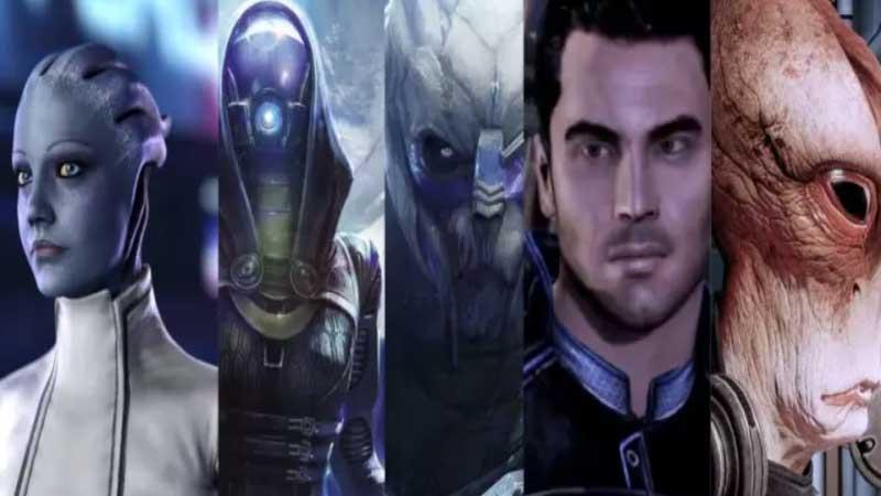 Miembros del escuadrón de Mass Effect Edición Legendaria