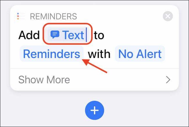 Seleccione el botón Recordatorios para personalizar la lista de Recordatorios predeterminada.