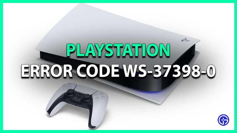 Reparar el código de error de PlayStation WS-37398-0