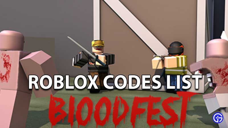 Canjear códigos de Roblox Bloodfest