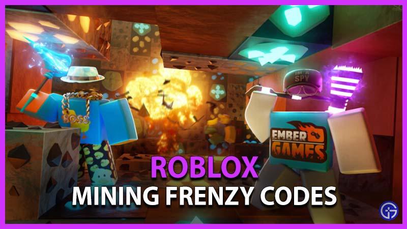 Códigos del frenesí minero de Roblox