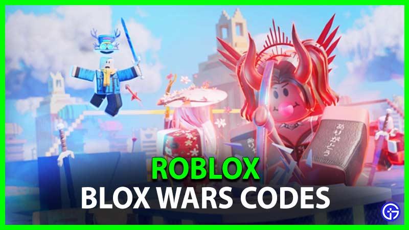 Códigos de Roblox Blox Wars