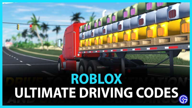 Códigos de Roblox Ultimate Driving Westover Islands