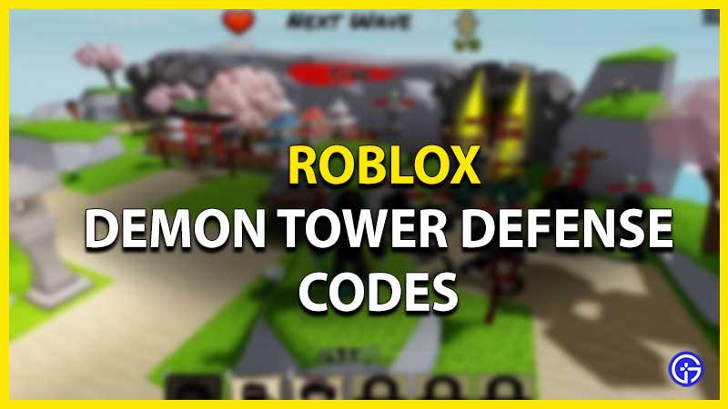Códigos de defensa de la torre del demonio de Roblox