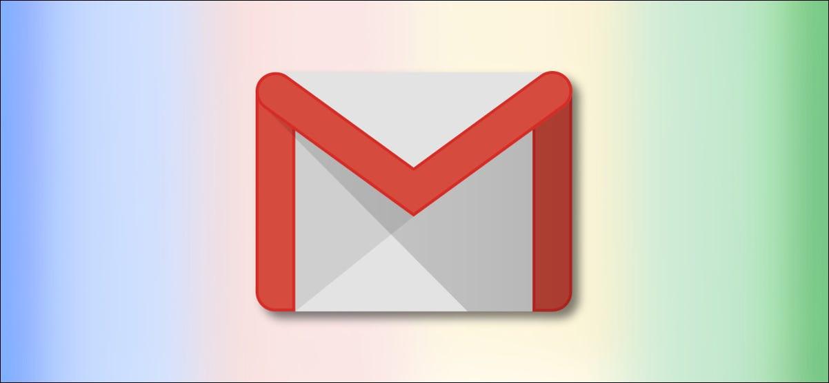 Logotipo de Google Gmail en el fondo del arco iris