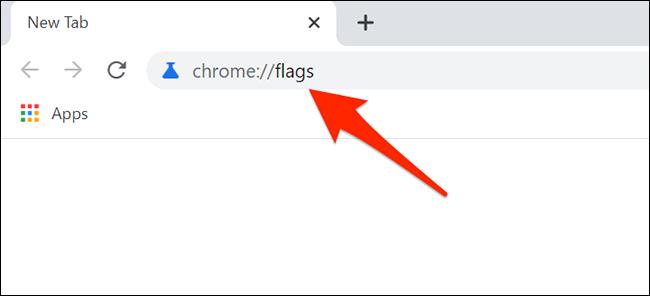 """Tipo """"chrome: // banderas"""" en la barra de direcciones de Chrome"""