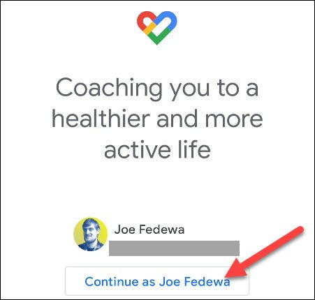 iniciar sesión en google fit