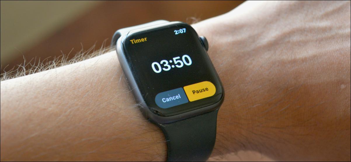 Configurar un temporizador en el Apple Watch