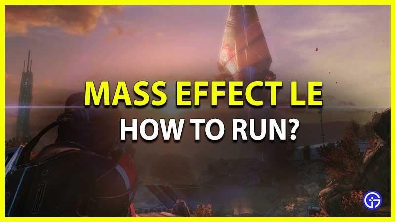 Cómo correr en Mass Effect Legendary Edition