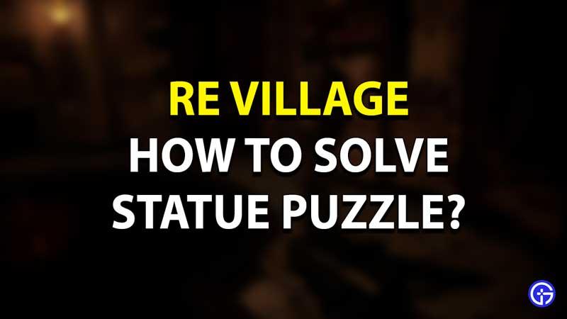 Rompecabezas de estatua de RE Village