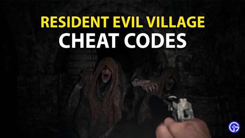 Códigos de trucos de Resident Evil 8 Village