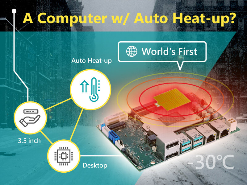 DFI anuncia SBC de escritorio de tamaño reducido con calentamiento automático contra climas extremos