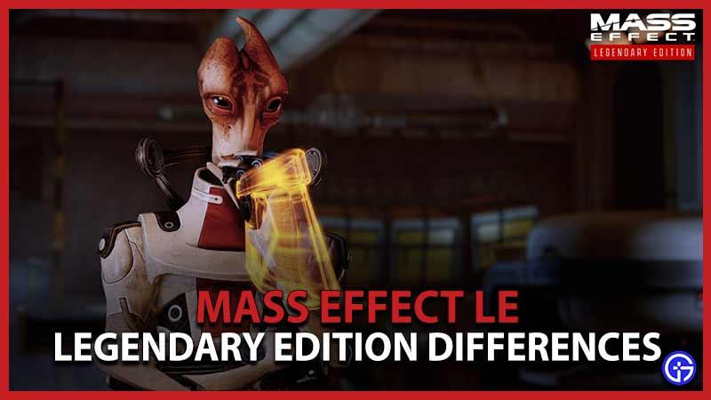 Diferencias de Mass Effect Le Legendary Edition